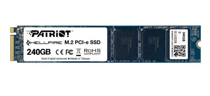 SSD 240GB PATRIOT Hellfire M.2 2280 PCIe